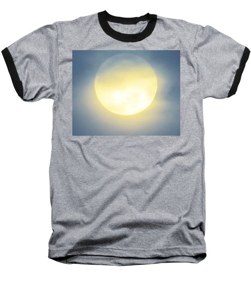 Baseball T-Shirt featuring the photograph Leo Blue Super Moon by Judy Kennedy