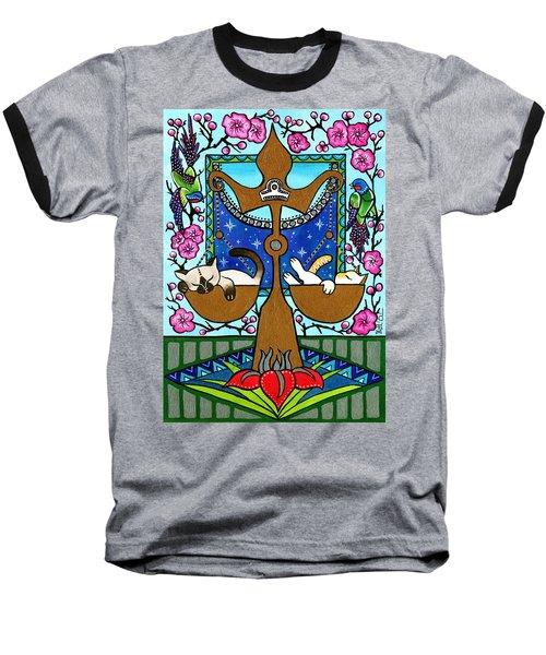 Libra Cat Zodiac Baseball T-Shirt