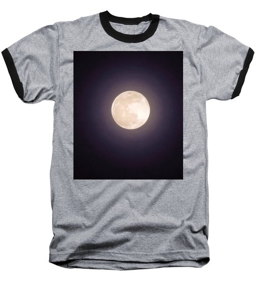 Baseball T-Shirt featuring the photograph Libra Full Moon by Judy Kennedy