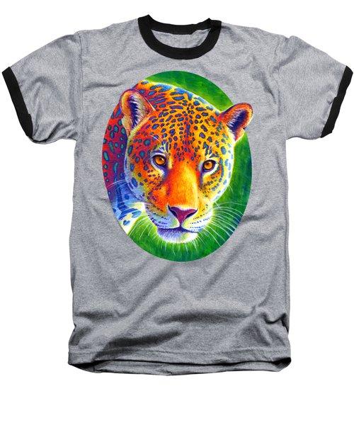 Light In The Rainforest - Jaguar Baseball T-Shirt