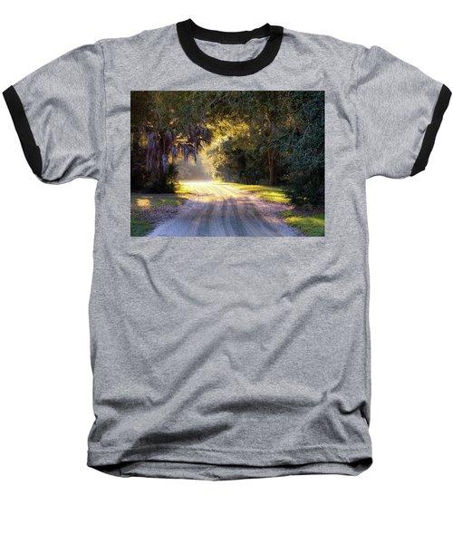 Light, Shadows And An Old Dirt Road Baseball T-Shirt