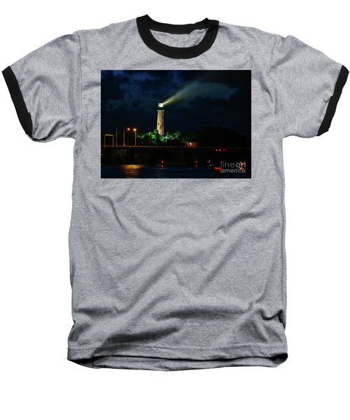 Lighthouse Lightbeam Baseball T-Shirt