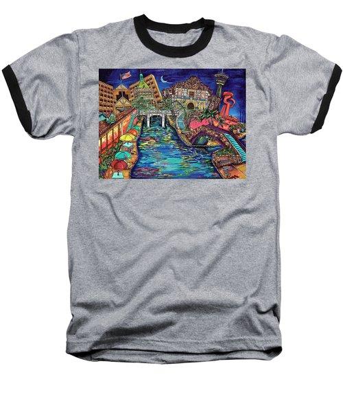 Lights On The Banks Of The River Baseball T-Shirt