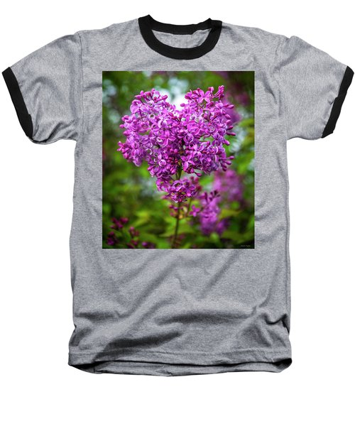 Lilac Heart Baseball T-Shirt