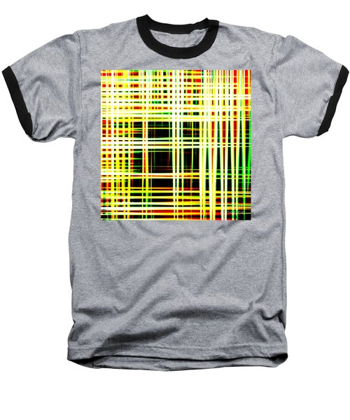 Lines And Squares In Color Waves - Plb418 Baseball T-Shirt