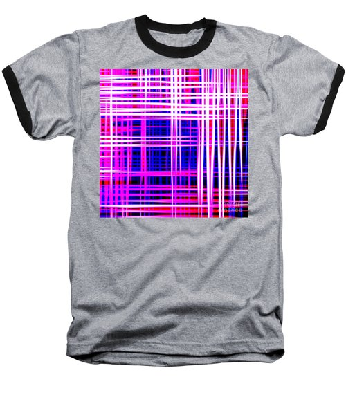 lines and squares in purple Color Waves - PL414 Baseball T-Shirt