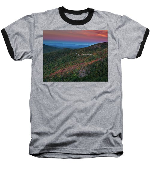 Linn Cove Pink And Blue Baseball T-Shirt