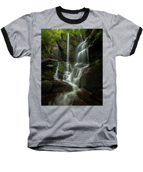 Linville Gorge - Waterfall Baseball T-Shirt