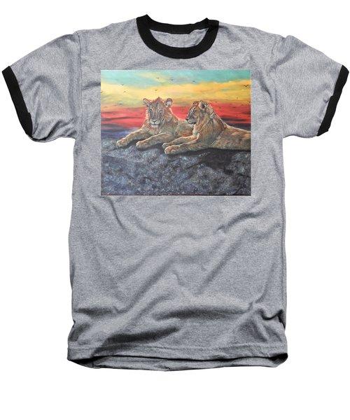 Lion Sunset Baseball T-Shirt