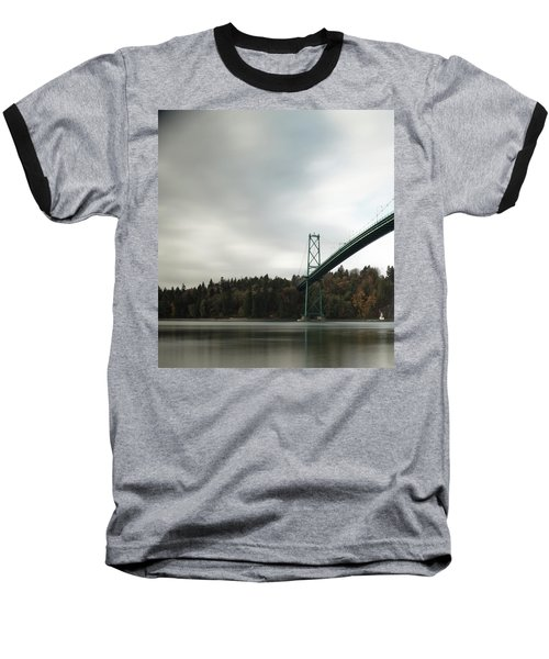 Lions Gate Bridge Vancouver Baseball T-Shirt
