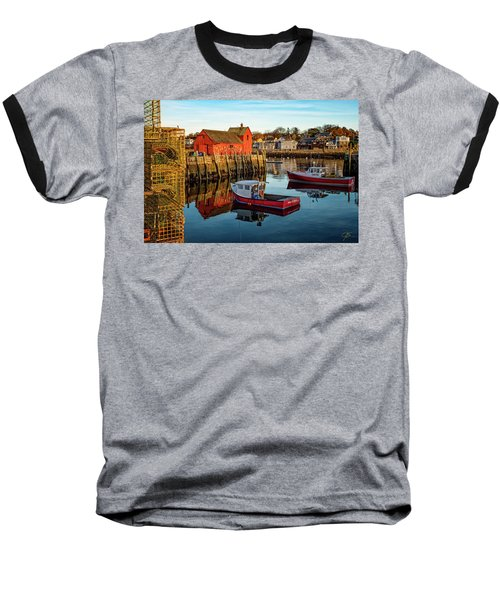 Lobster Traps, Lobster Boats, And Motif #1 Baseball T-Shirt