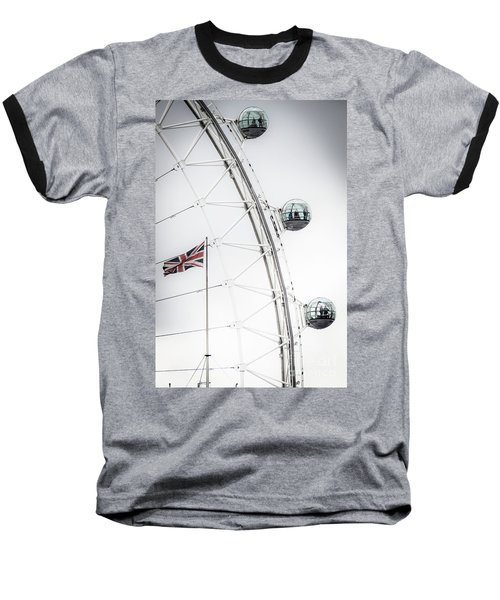 London Eye And Union Jack Baseball T-Shirt