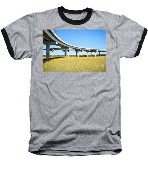Long Concrete Bridge  Baseball T-Shirt