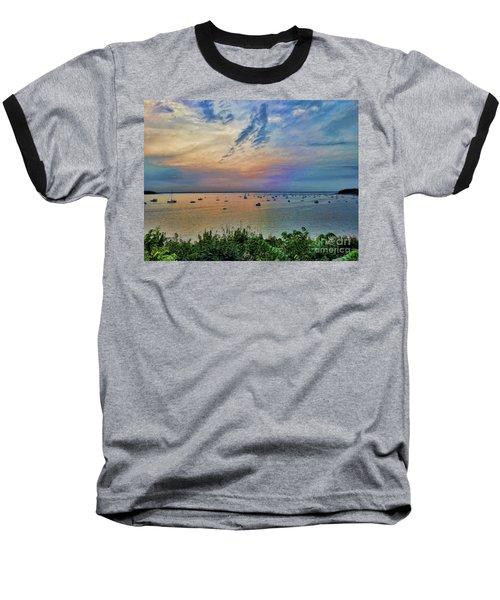 Long Island Sound From Glen Cove Baseball T-Shirt
