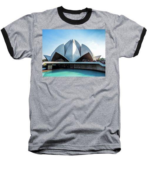 Lotus Temple Baseball T-Shirt