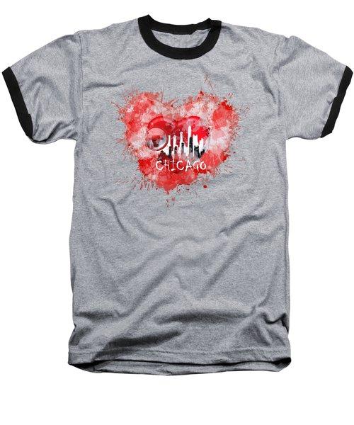 Love Chicago Colors Baseball T-Shirt
