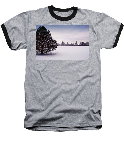 Baseball T-Shirt featuring the photograph Lovely Winter Chicago by Milena Ilieva