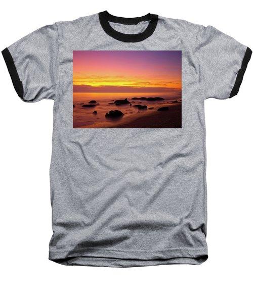 Low Tide Nautical Twilight Baseball T-Shirt
