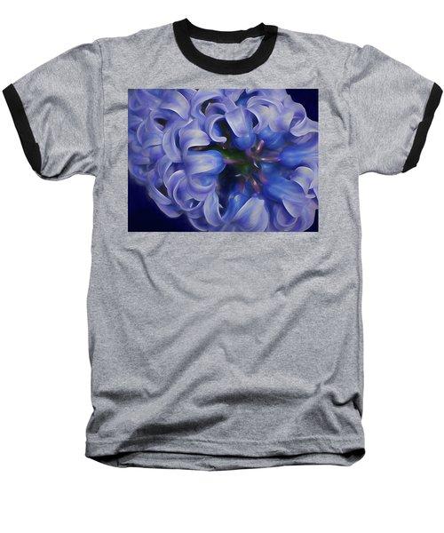 Baseball T-Shirt featuring the mixed media Luminous Curls 2 by Lynda Lehmann