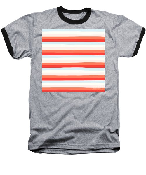 lumpy or bumpy lines abstract and colorful - QAB266 Baseball T-Shirt