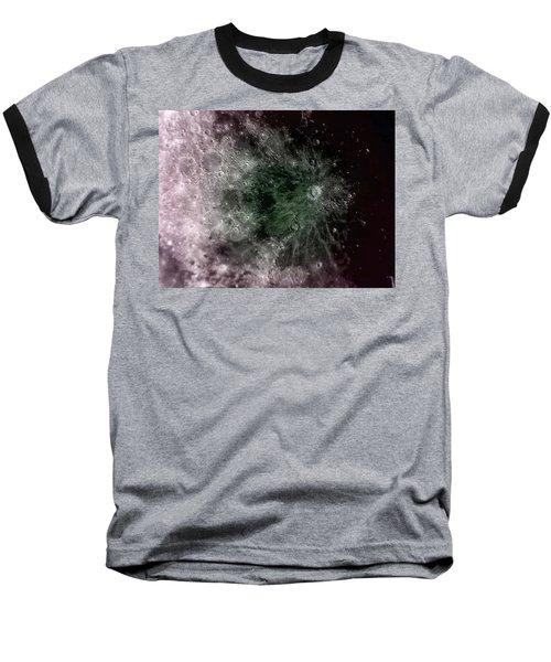 Lunar Crater Baseball T-Shirt