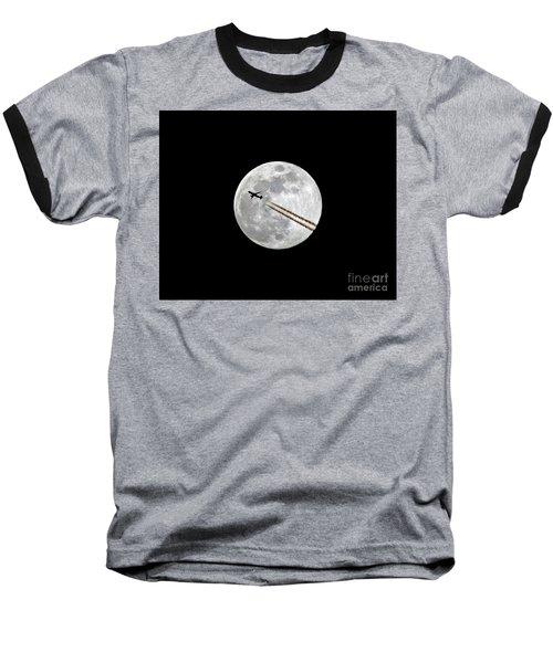 Lunar Photobomb Baseball T-Shirt