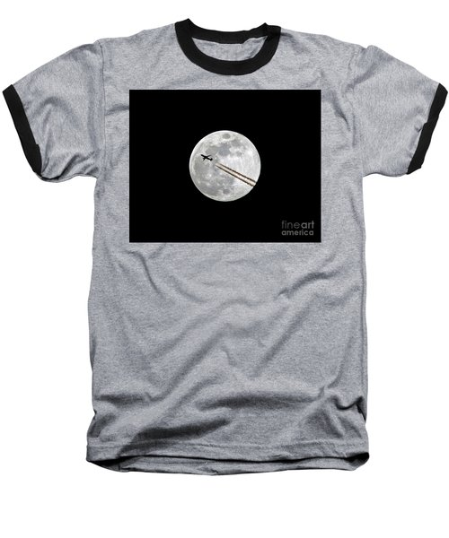 Lunar Photobomb Baseball T-Shirt