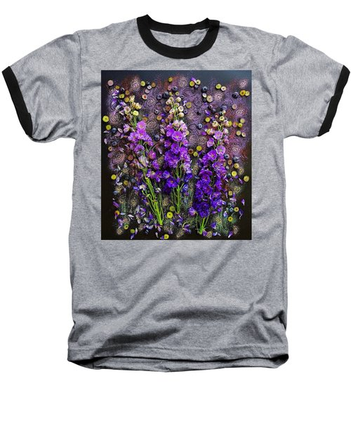 Lupine And Blueberries  Baseball T-Shirt