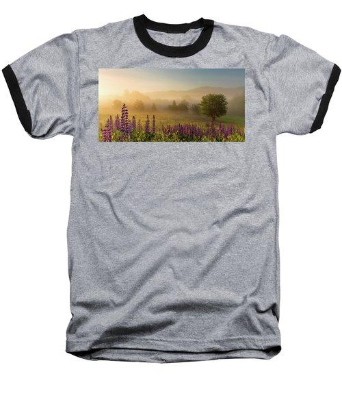 Lupine In The Fog, Sugar Hill, Nh Baseball T-Shirt