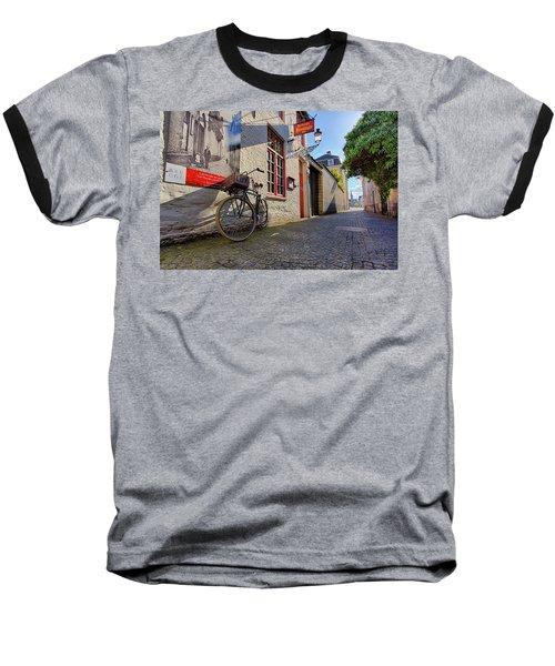 Lux Cobblestone Road Brugge Belgium Baseball T-Shirt