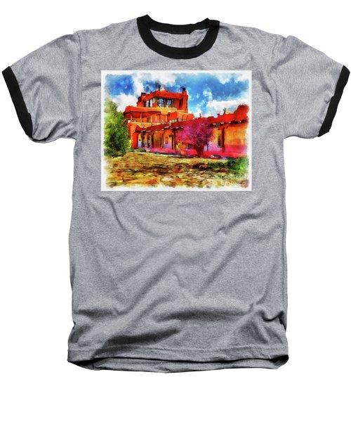 Mabel's Courtyard In Aquarelle Baseball T-Shirt