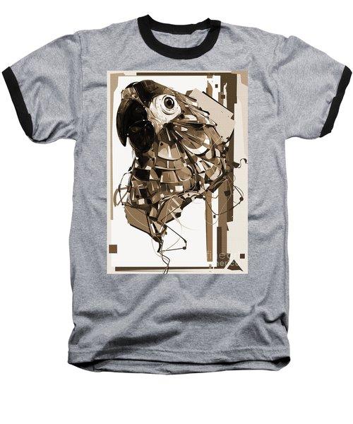 Macaw Art Sepia  Baseball T-Shirt