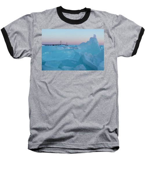 Mackinac Bridge In Ice 2161805 Baseball T-Shirt