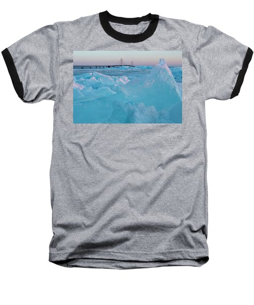 Mackinac Bridge In Ice 2161806 Baseball T-Shirt