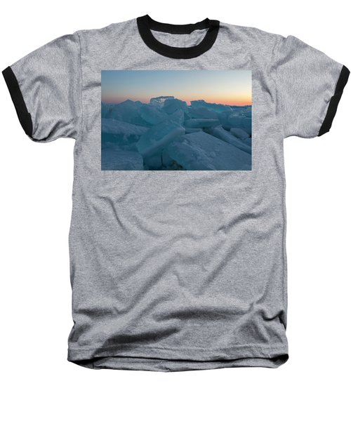Mackinaw City Ice Formations 2161808 Baseball T-Shirt