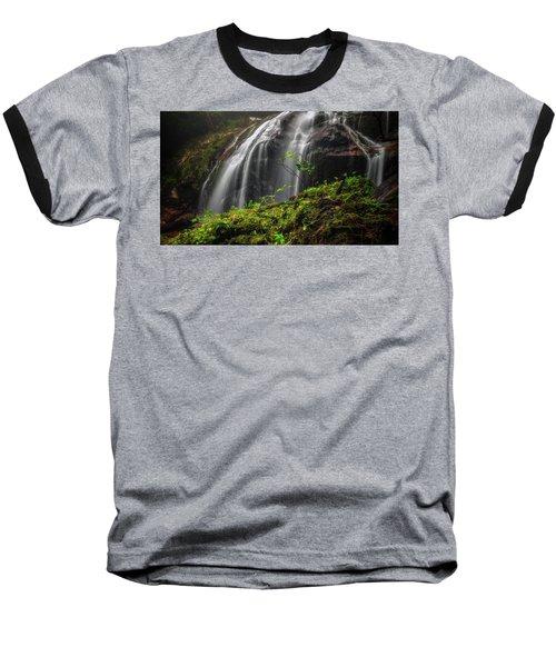 Magical Mystical Mossy Waterfall Baseball T-Shirt
