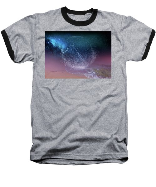 Magical Night Moment By The Seashore In Dreamland 3 Baseball T-Shirt