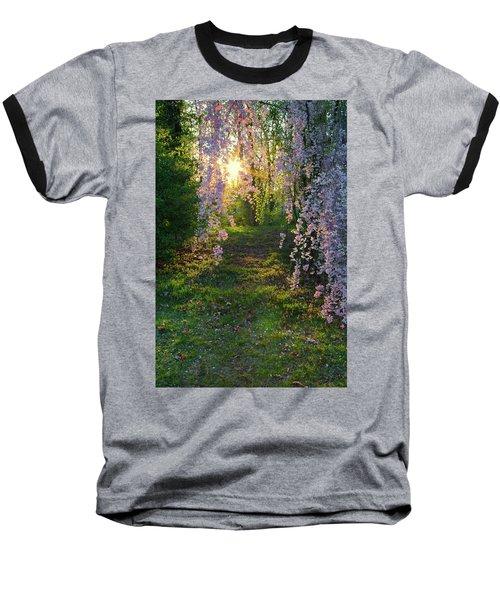 Magnolia Tree Sunset Baseball T-Shirt