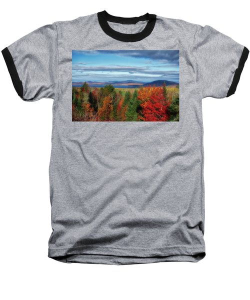 Maine Fall Foliage Baseball T-Shirt