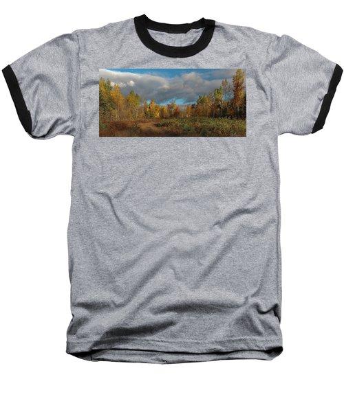 Maine Wilderness Color 2 Baseball T-Shirt