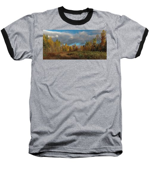 Maine Wilderness Color 2 Baseball T-Shirt