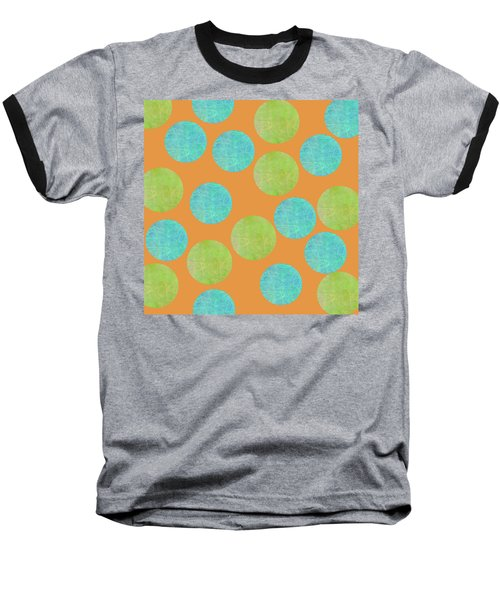 Malaysian Batik Polka Dot Print Baseball T-Shirt