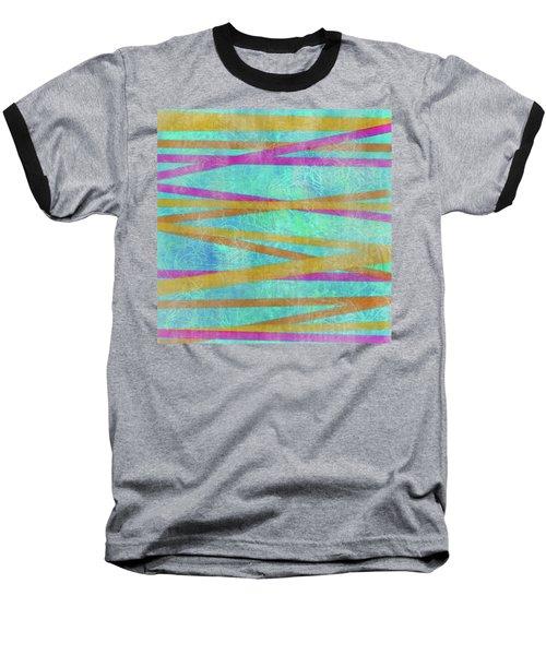 Malaysian Tropical Batik Strip Print Baseball T-Shirt