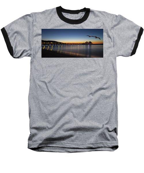 Malibu Pier At Sunrise Baseball T-Shirt