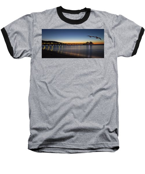 Malibu Pier At Sunrise Baseball T-Shirt