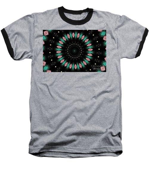 Mallard Duck Mandala Baseball T-Shirt