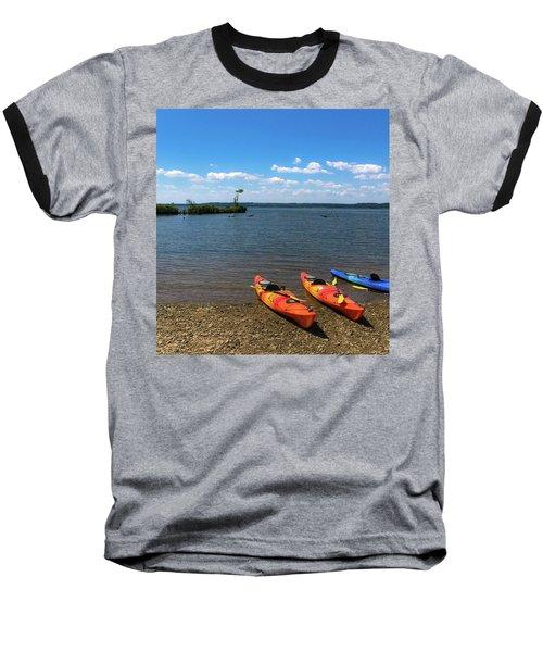 Baseball T-Shirt featuring the photograph Mallows Bay And Kayaks by Lora J Wilson