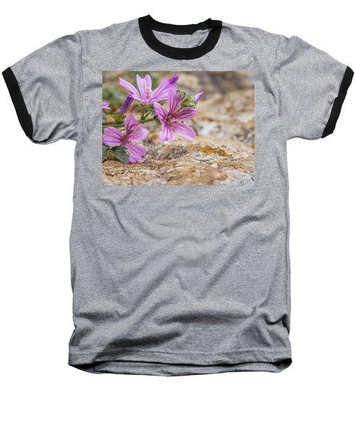 Malva Sylvestris - Spontaneous Flower Of The Tuscan Mountains Baseball T-Shirt