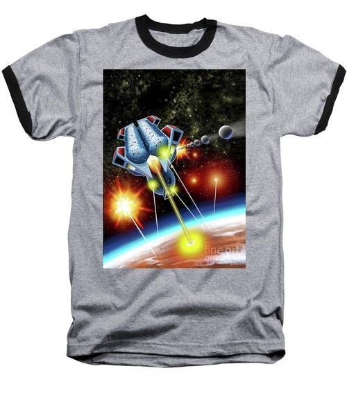 Mangle Atacks Nisip Baseball T-Shirt