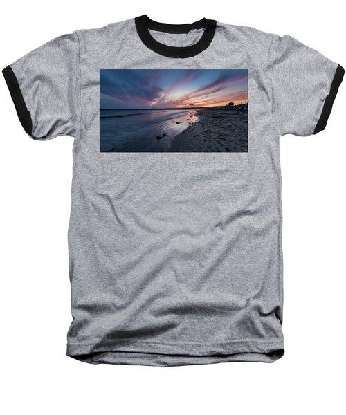 Marazion Sunset - Cornwall Baseball T-Shirt